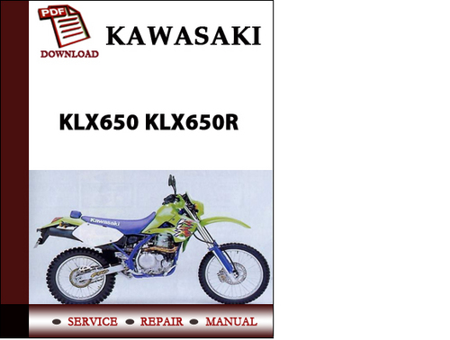kawasaki klx650 klx650r workshop service repair manual pdf download rh tradebit com KLX 650 Review 2010 Kawasaki KLX 650