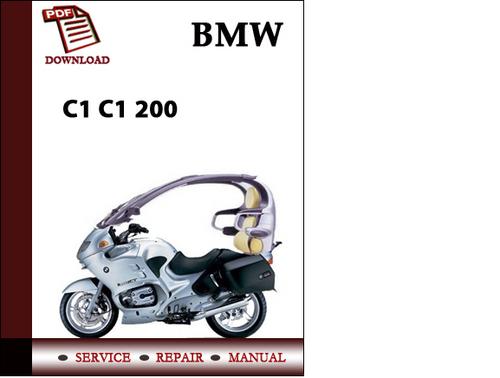 bmw c1 c1 200 workshop service manual repair manual. Black Bedroom Furniture Sets. Home Design Ideas