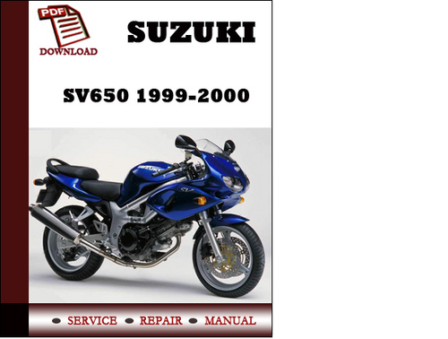 suzuki sv650 1999 2000 workshop service repair manual pdf download rh tradebit com suzuki sv650s service manual free download suzuki sv650 s 1999 service manual