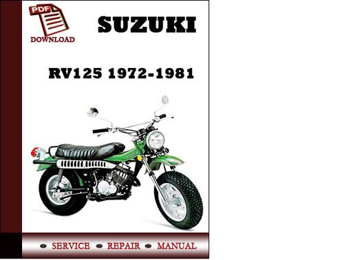 suzuki rv125 1972 1981 workshop service repair manual pdf download rh tradebit com suzuki 125 service manual pdf suzuki lt 125 service manual pdf