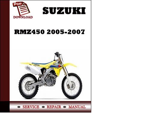 suzuki rmz450 2005 2006 2007 workshop service repair manual pdf dow rh tradebit com 2007 suzuki rm250 service manual 2007 suzuki sx4 service manual pdf