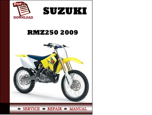 suzuki rmz250 2009 workshop service repair manual pdf download do rh tradebit com suzuki rmz 250 service manual 2013 suzuki rmz 250 service manual 2007