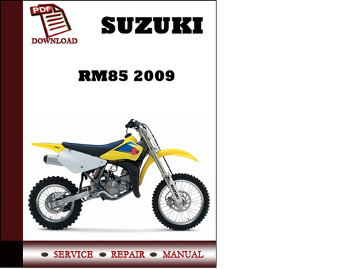 suzuki rm85 2009 workshop service repair manual pdf. Black Bedroom Furniture Sets. Home Design Ideas