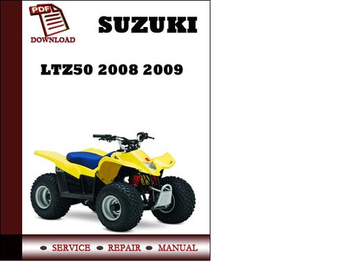 suzuki ltz50 2008 2009 workshop service repair manual pdf download rh tradebit com suzuki quadsport z50 owners manual suzuki lt z50 repair manual