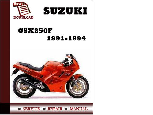 suzuki gsx250f 1991 1992 1993 1994 workshop service repair manual p rh tradebit com suzuki gsx250f service manual Parts Manual