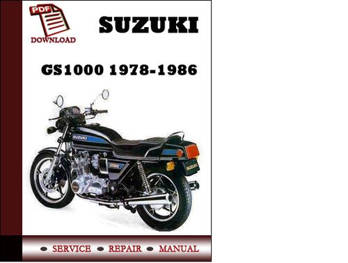suzuki gs1000 1978 1986 workshop service repair manual pdf. Black Bedroom Furniture Sets. Home Design Ideas