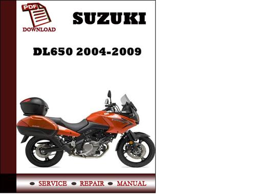 suzuki dl650 2005 2006 2007 2008 2009 workshop service. Black Bedroom Furniture Sets. Home Design Ideas