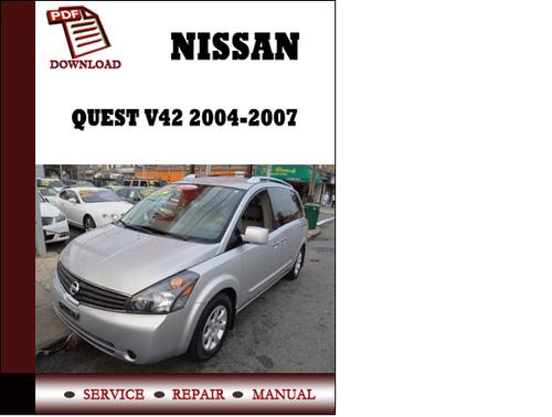 Nissan Quest 2004 Service Repair Manual Pdf Download | Upcomingcarshq.com