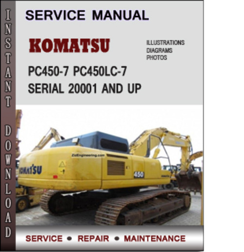 komatsu pc450 7 pc450lc 7 serial 20001 and up factory. Black Bedroom Furniture Sets. Home Design Ideas