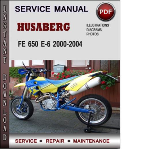 husaberg fe 650 e 6 2000 2004 factory service repair manual downloa rh tradebit com Ford Owner's Manual Repair Manuals
