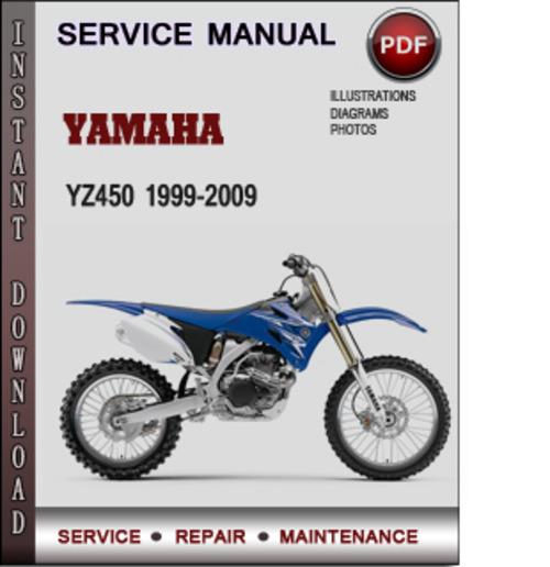 Yamaha YZ450 1999-2009 Factory Service Repair Manual