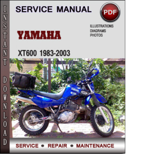yamaha xt600 1983 2003 factory service repair manual. Black Bedroom Furniture Sets. Home Design Ideas