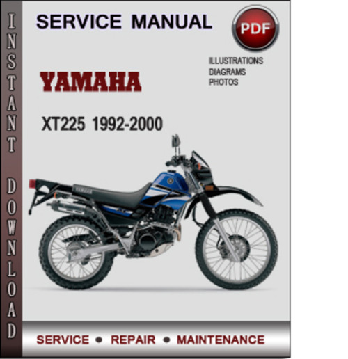yamaha xt225 1992 2000 factory service repair manual. Black Bedroom Furniture Sets. Home Design Ideas