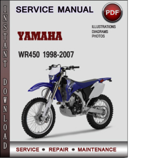 yamaha wr450 1998 2007 factory service repair manual. Black Bedroom Furniture Sets. Home Design Ideas