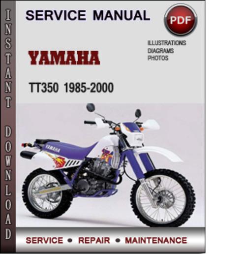 yamaha tt350 1985 2000 factory service repair manual. Black Bedroom Furniture Sets. Home Design Ideas