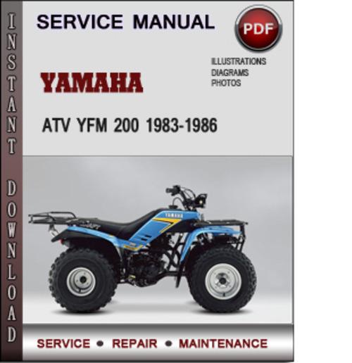 yamaha atv yfm 200 1983 1986 factory service repair manual. Black Bedroom Furniture Sets. Home Design Ideas
