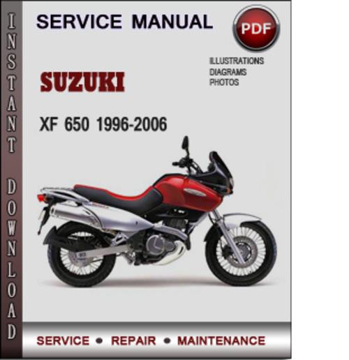 Suzuki xf650 freewind service manual download manuals & techn.