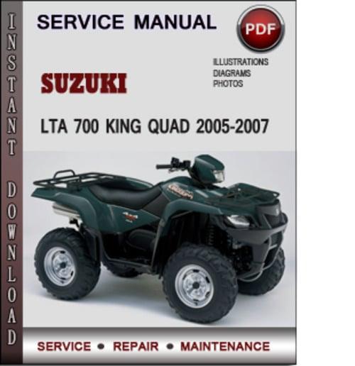 Suzuki lta 700 king quad 2005 2007 factory service repair manual do pay for suzuki lta 700 king quad 2005 2007 factory service repair manual download pdf cheapraybanclubmaster Images
