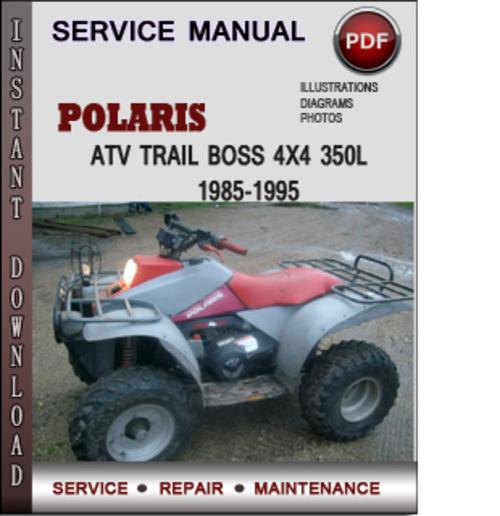 Polaris Atv Trail Boss 4x4 350l 1985