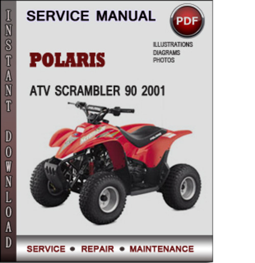 polaris atv scrambler 90 2001 factory service repair. Black Bedroom Furniture Sets. Home Design Ideas