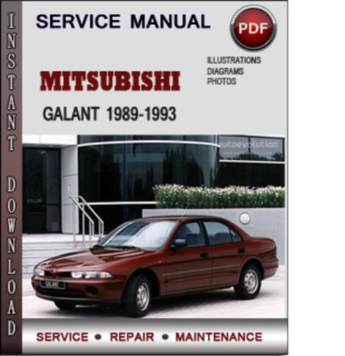 Mitsubishi Galant 1989 1993 Factory Service Repair Manual border=
