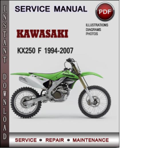 Kawasaki Kx250 F 1994 2007 Factory Service Repair Manual border=