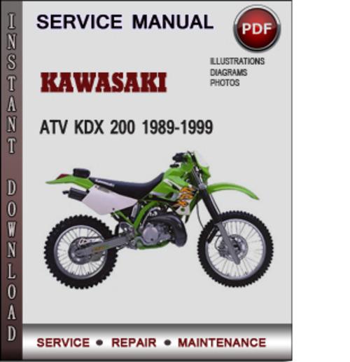 kawasaki atv kdx 200 1989 1999 factory service repair manual downlo rh tradebit com