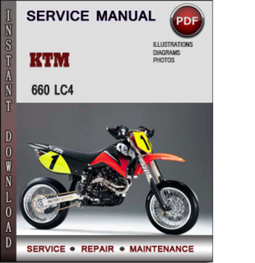 ktm 660 lc4 factory service repair manual download pdf download m rh tradebit com ktm lc4 640 repair manual ktm 400-660-lc4 repair manual 98-05 complete eng