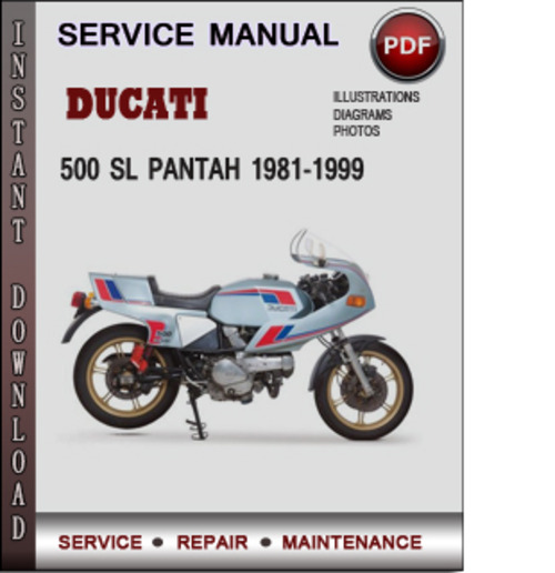 ducati 500 sl pantah 1981 1999 factory service repair. Black Bedroom Furniture Sets. Home Design Ideas