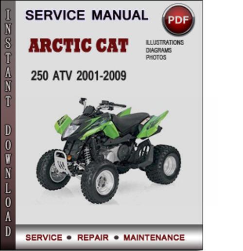 Arctic Cat 250 Atv 2001 2009 Factory Service Repair Manual border=