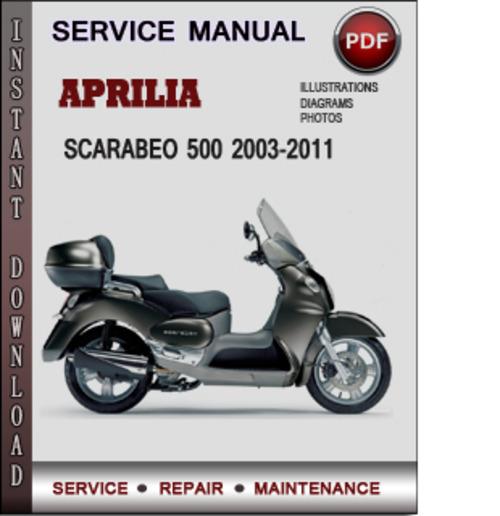 aprilia scarabeo 500 2003 2011 factory service repair manual downlo rh tradebit com aprilia scarabeo 100 4t service manual Aprilia Scarabeo 150 Scooter