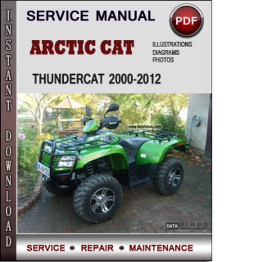 service manual arctic cat thundercat 2000 2012 factory. Black Bedroom Furniture Sets. Home Design Ideas