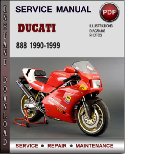 ducati 888 1990 1999 factory service repair manual
