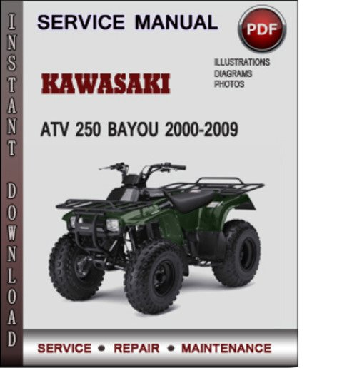 Kawasaki Atv 250 Bayou 2000-2009 Factory Service Repair Manual Download Pdf