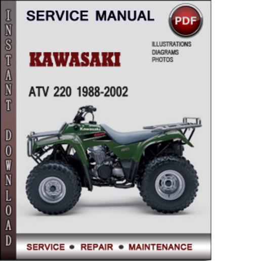 kawasaki atv 220 1988 2002 factory service repair manual. Black Bedroom Furniture Sets. Home Design Ideas