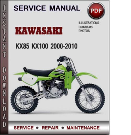 kawasaki kx85 kx100 2000 2010 factory service repair manual downloa rh tradebit com 125 Kawasaki KX100 125 Kawasaki KX100
