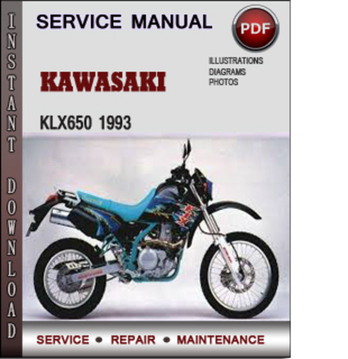 Kawasaki Klx650 1993 Factory Service Repair Manual Download Pdf Tradebit
