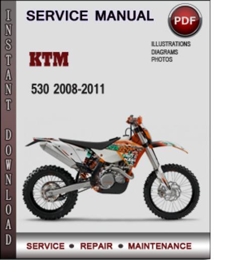 ktm 530 2008 2011 factory service repair manual download pdf down rh tradebit com ktm 530 exc owner's manual ktm 530 service manual pdf