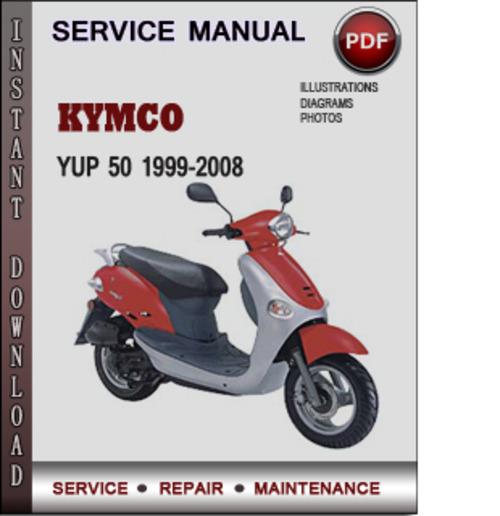 kymco yup 50 1999 2008 workshop service manual repair