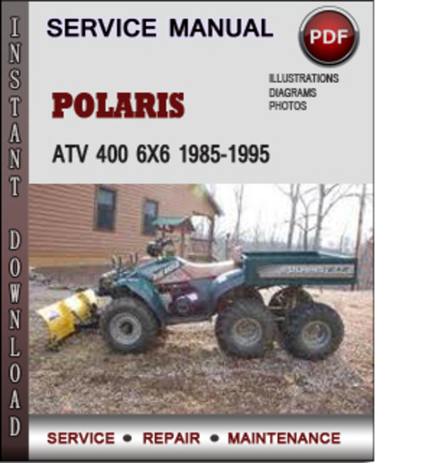 Polaris Atv 400 6x6 1985-1995 Factory Service Repair Manual