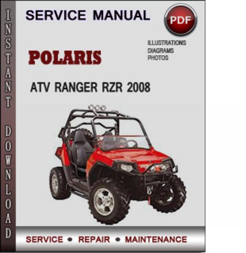 Service Manual Polaris Atv Ranger Rzr 170 2009 Factory Service Re