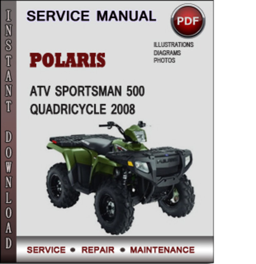 Polaris Atv Sportsman 500 Quadricycle 2008 Factory Service