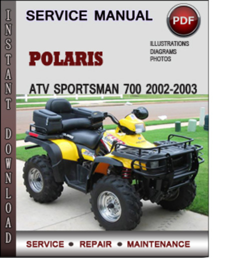 polaris atv sportsman 700 2002 2003 factory service repair. Black Bedroom Furniture Sets. Home Design Ideas