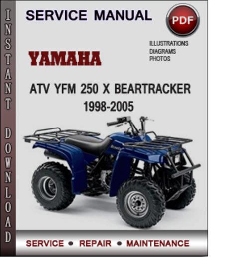 Yamaha Atv Yfm 250 X Beartracker 1998