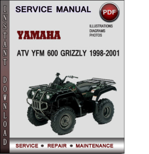 Wiring Diagram For 1998 Yamaha Grizzly 600 : Yamaha atv yfm grizzly  factory service