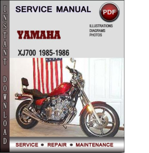 yamaha xj700 1985 1986 factory service repair manual. Black Bedroom Furniture Sets. Home Design Ideas