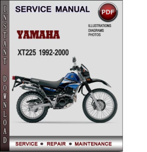 yamaha xt225 1992 2000 factory service repair manual download pdf rh tradebit com 2007 yamaha xt225 service manual yamaha xt225 repair manual