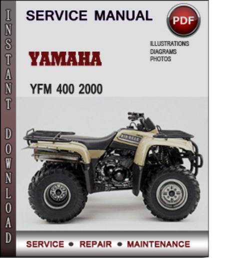yamaha yfm 400 2000 factory service repair manual download. Black Bedroom Furniture Sets. Home Design Ideas