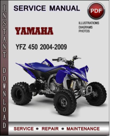 Yamaha Yfz 450 2004-2009 Factory Service Repair Manual Download Pdf