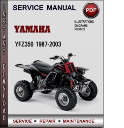 yamaha yfz350 1987 2003 factory service repair manual. Black Bedroom Furniture Sets. Home Design Ideas